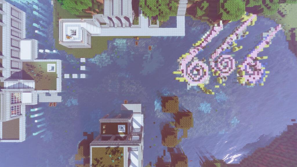 Installation im Wasser in Mindcraft