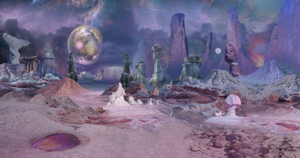 Eine futuristische Planetenoberfläche