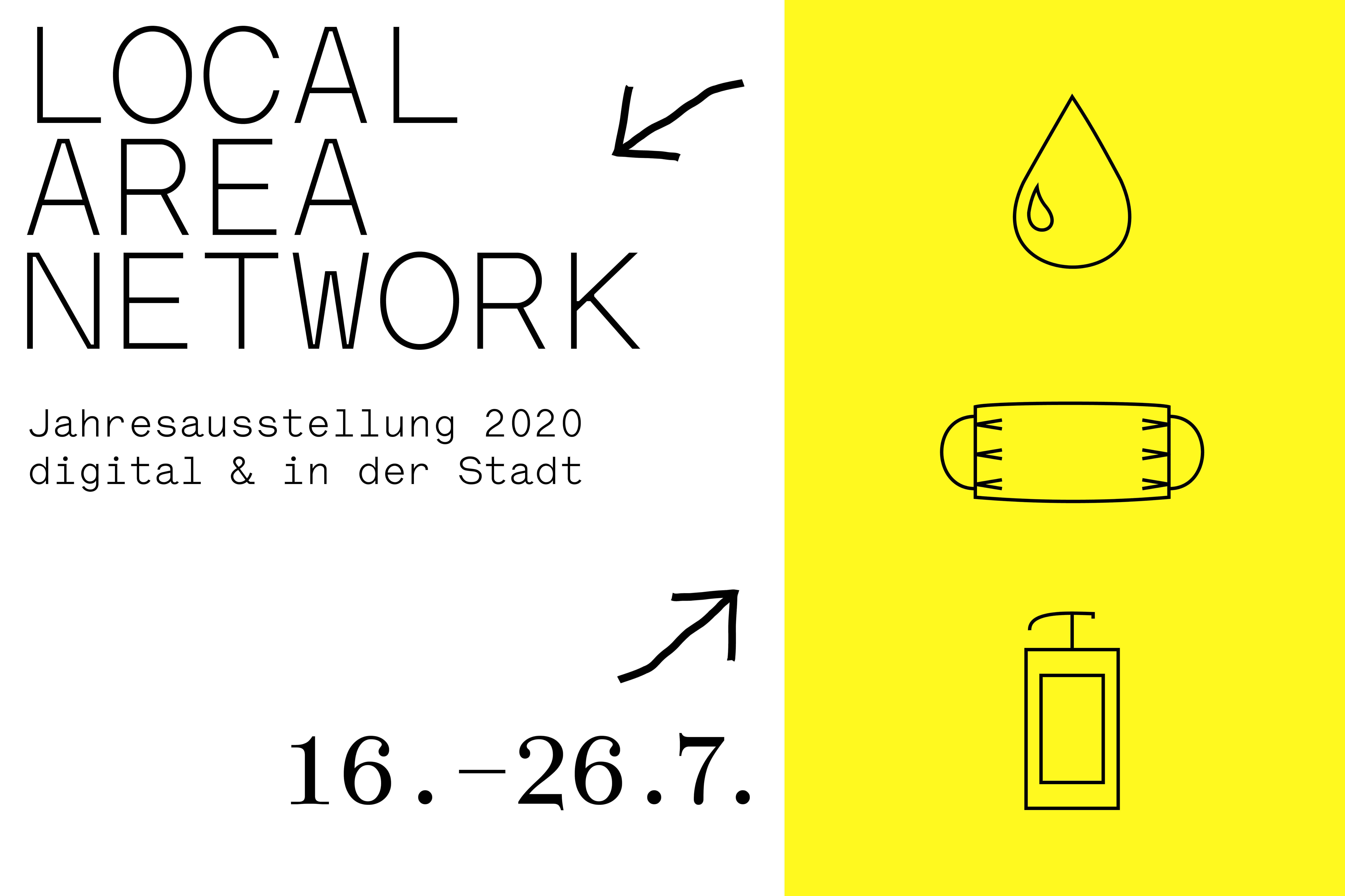 Logo der Jahresausstellung mit Laufzeitdaten