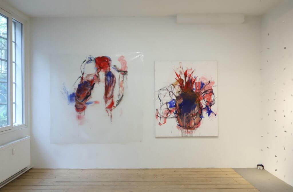 """Ausstellungsansicht """"body redivined"""" mit Arbeiten von dagmar Rauwald"""