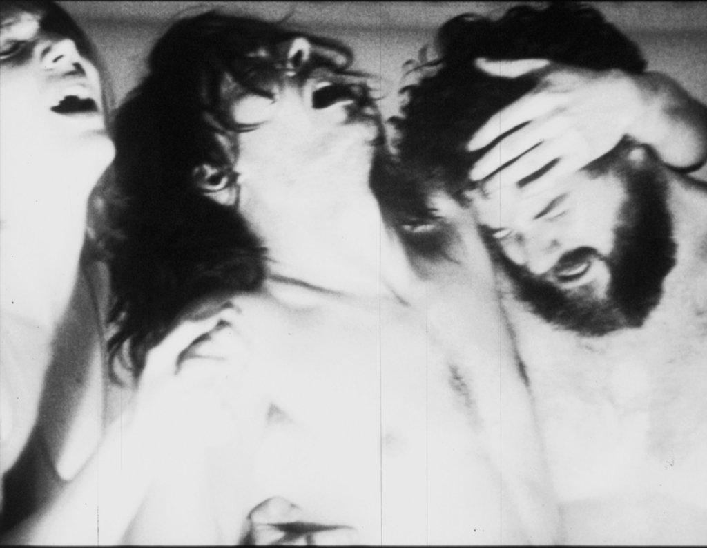 Drei tanzenden Männer in Exktase
