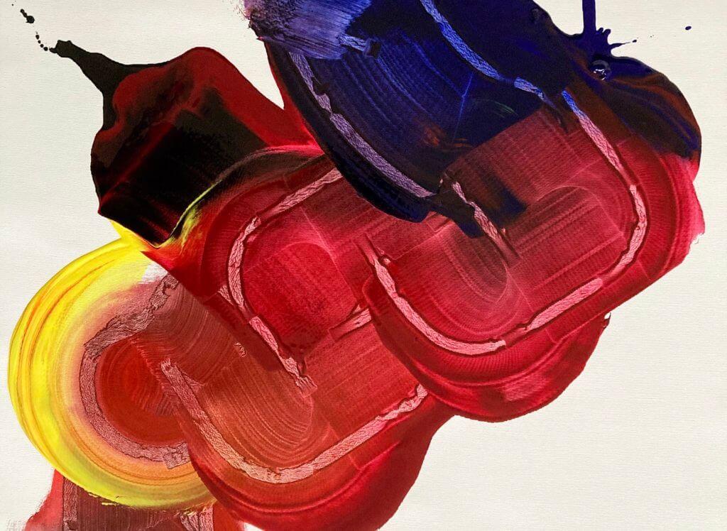 Farbenfrohe, abstrakte Malerei der Künstler Addie Wagenknecht.