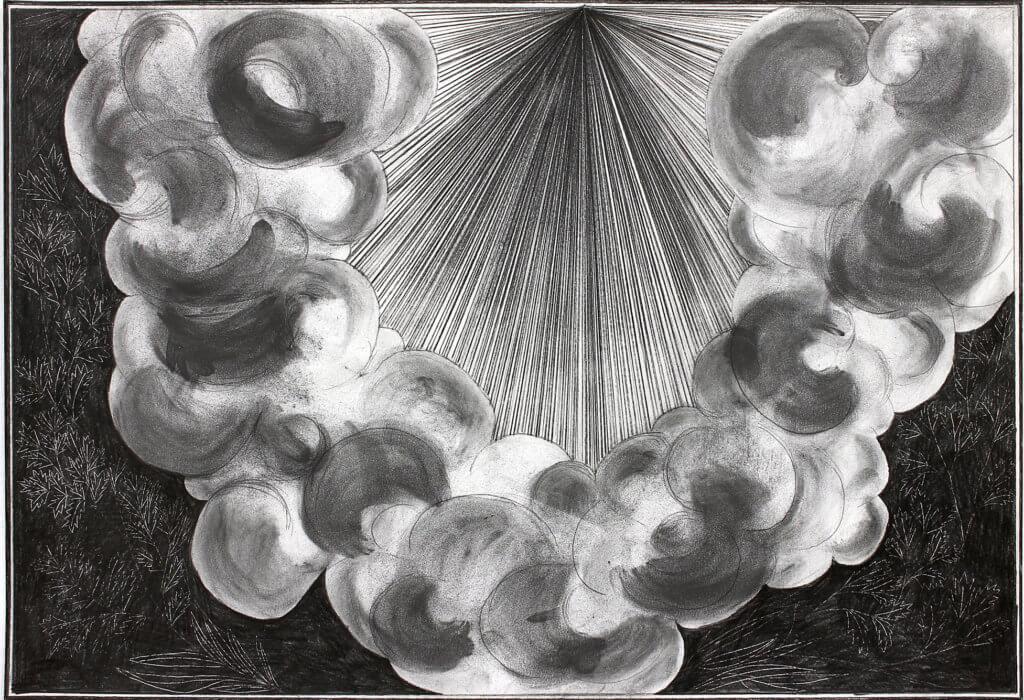 Wolke in grau