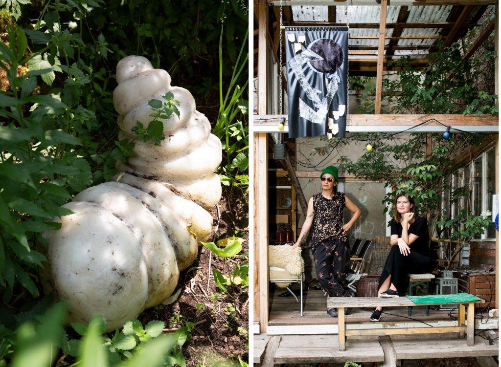 Made von Anne Duk Hee, rechts: Die Künstlerin mit Barbara Green.