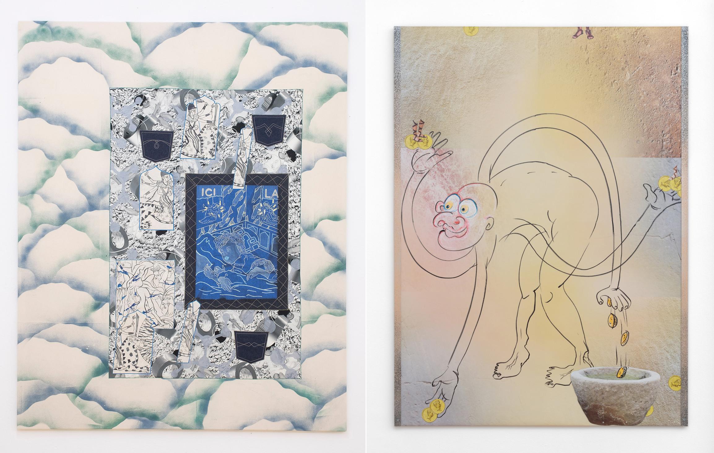 Malerein von Nadira Husain und Catherine Biocca.