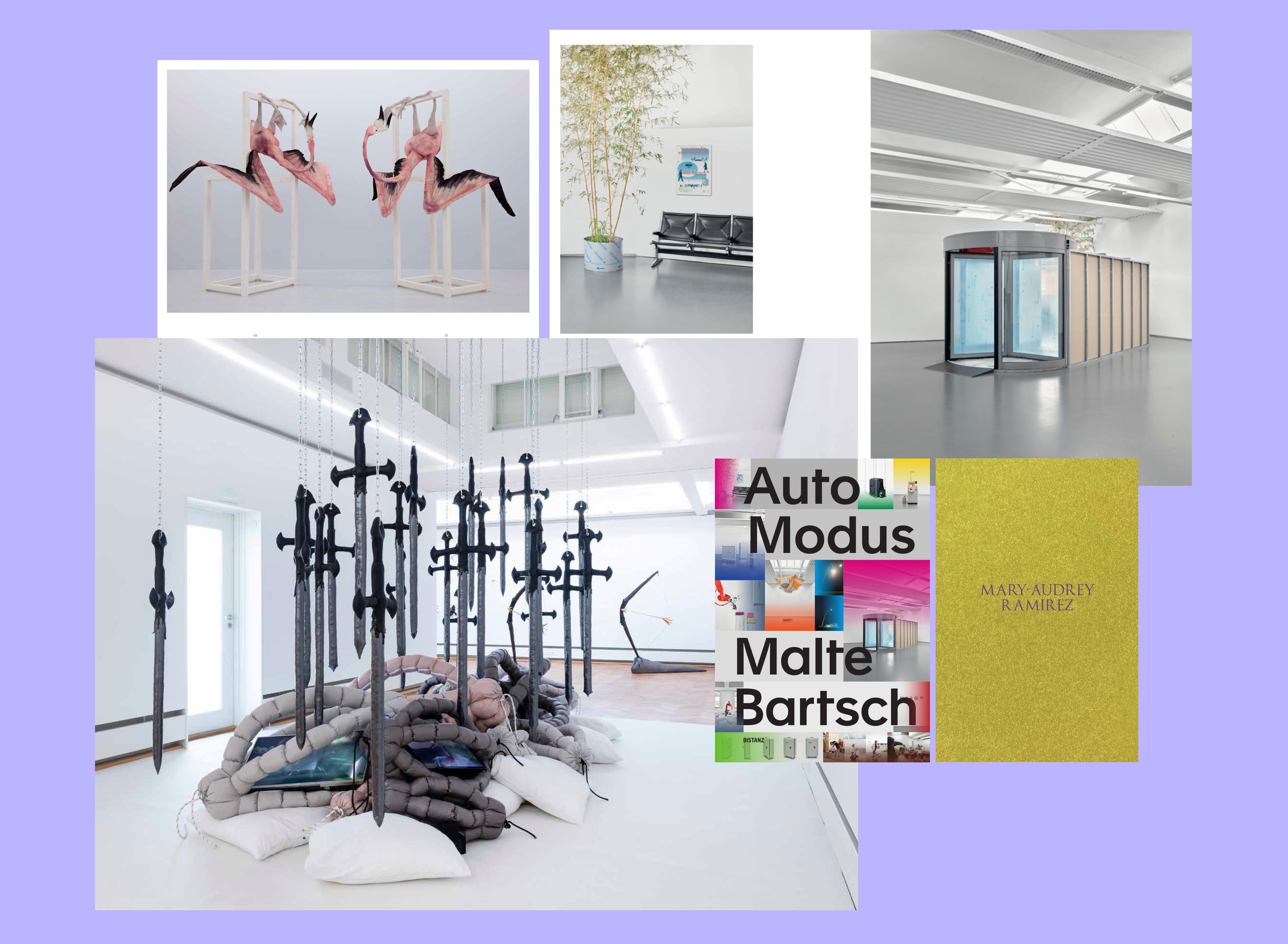 Innenansicht und Cover der Künstlerbücher von Malte Bartsch und Mary-Audrey Ramirez.