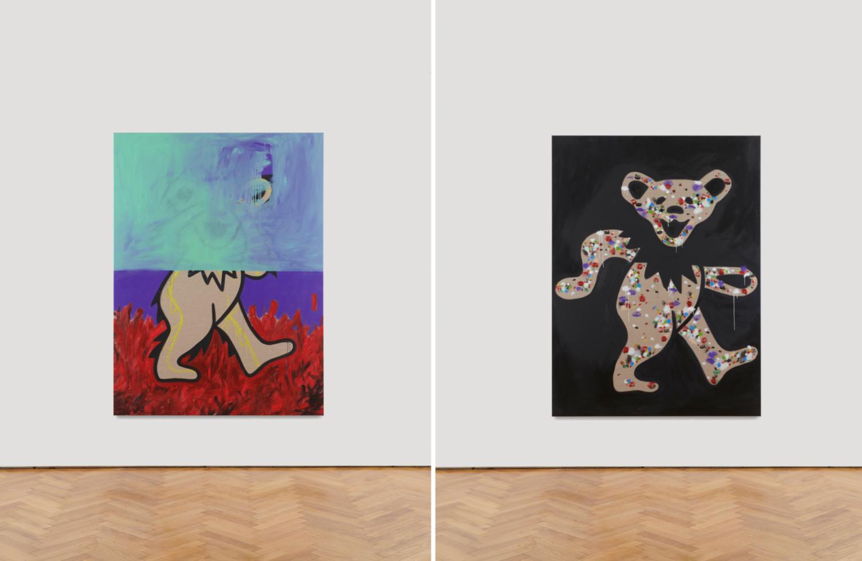 """Zwei Gemälde von den """"The Grateful Dead"""" Bären"""