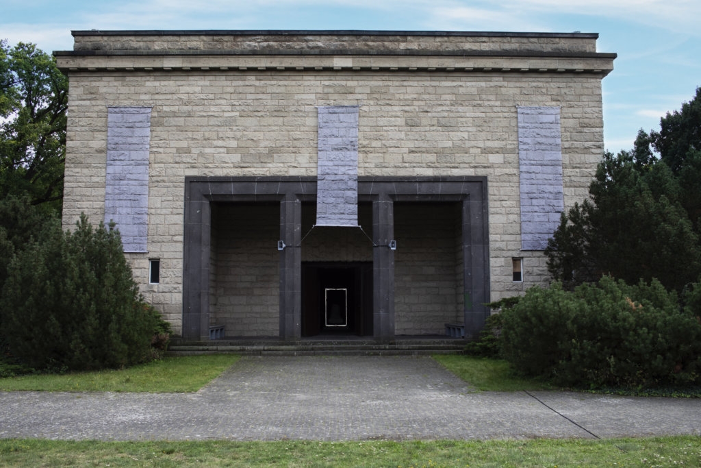 Außenansicht der Neuköllner Ehrenhalle.
