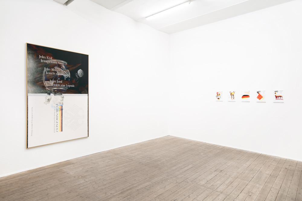 Malerei von Alex Wissel in der Galerie Conradi.