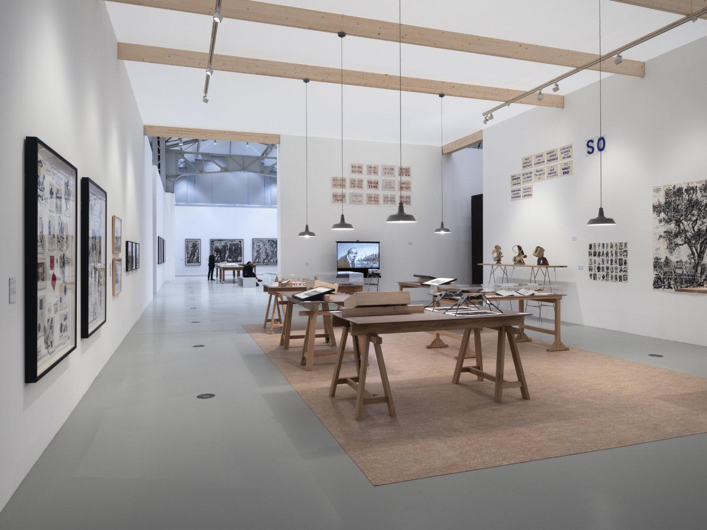 Ausstellungsansicht William Kentridge in der Halle für aktuelle Kunst