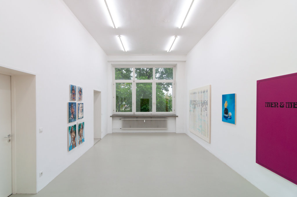Ansicht der Ausstellung Humour Then von Lise Soskolne im Kunstverein Nürnberg