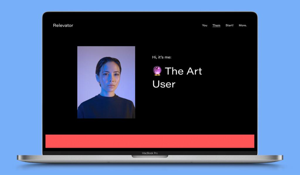 """Screenshot relevator.org: der """"Art User""""."""