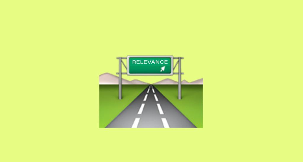 Screenshot relevator.org. Eine Autobahn gen Relevanz.