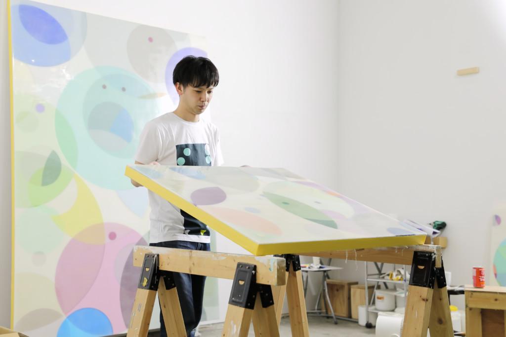 Yuki Yamamoto im Atelier in Sapporo, Japan, Foto: Naoki Wagatsuma