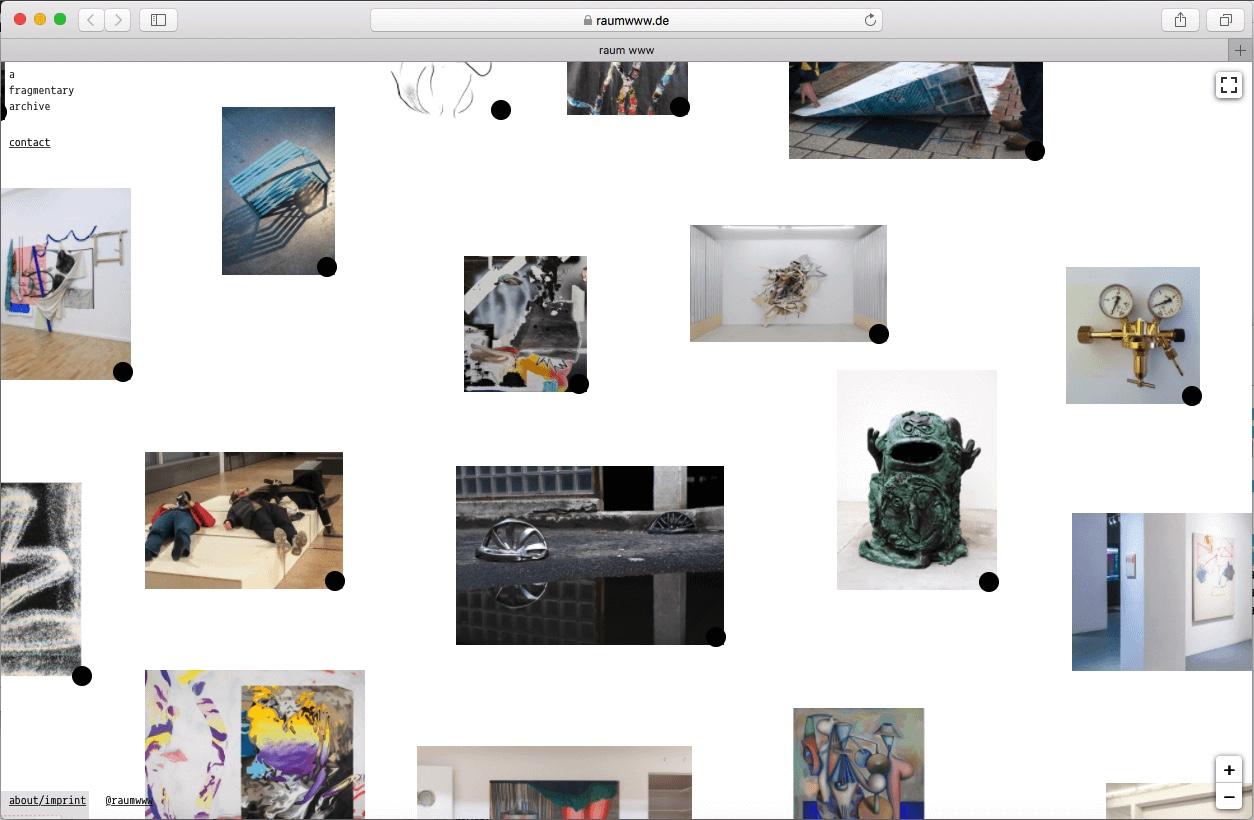 Screenshot des Online-Archivs Raum www.
