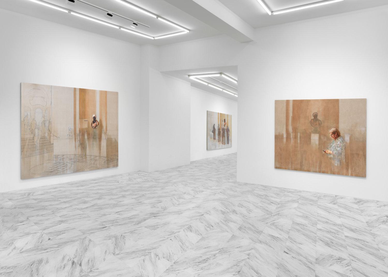 """Ausstellungsansicht: Esteban Jefferson: """"Petit Palais"""" bei Tanya Leighton."""