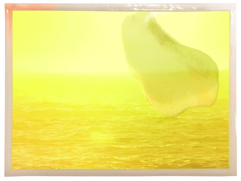 Gelbes Bild mit Meer-Muster von Susi Gelb.