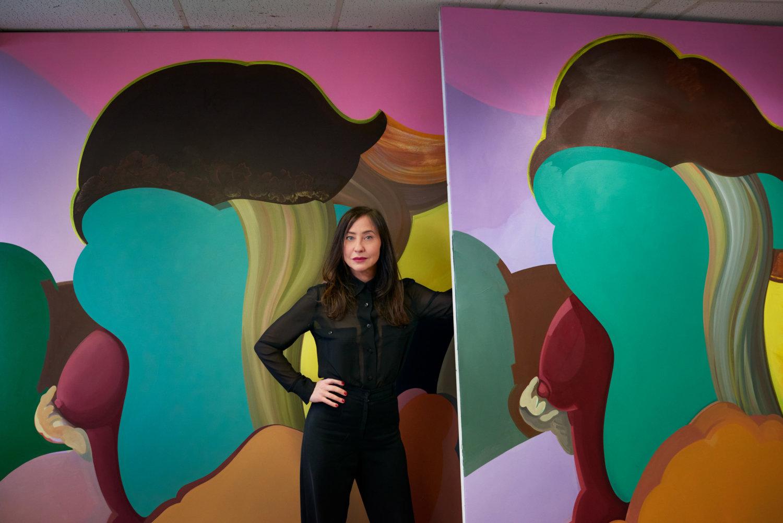 Die Malerin Egle Otto in ihrem Studio