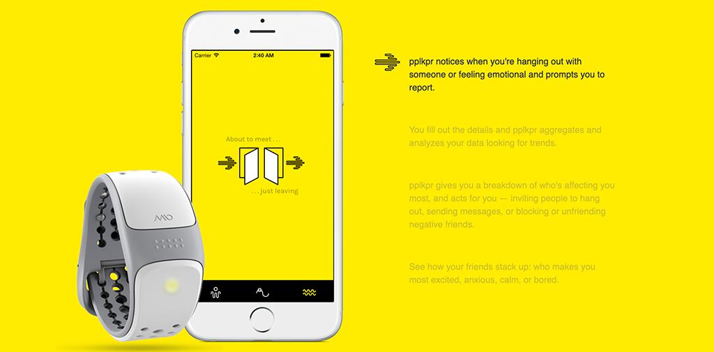 """Zu sehen ist eine """"Werbung"""" für die App pplkpr von Lauren Lee McCarthy und Kyle McDonald."""