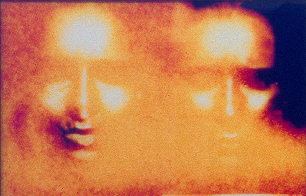 Katharina Sieverding, Kontinentalkern X / Die Sonne um Mitternacht schauen, 1988 Lenbachhaus