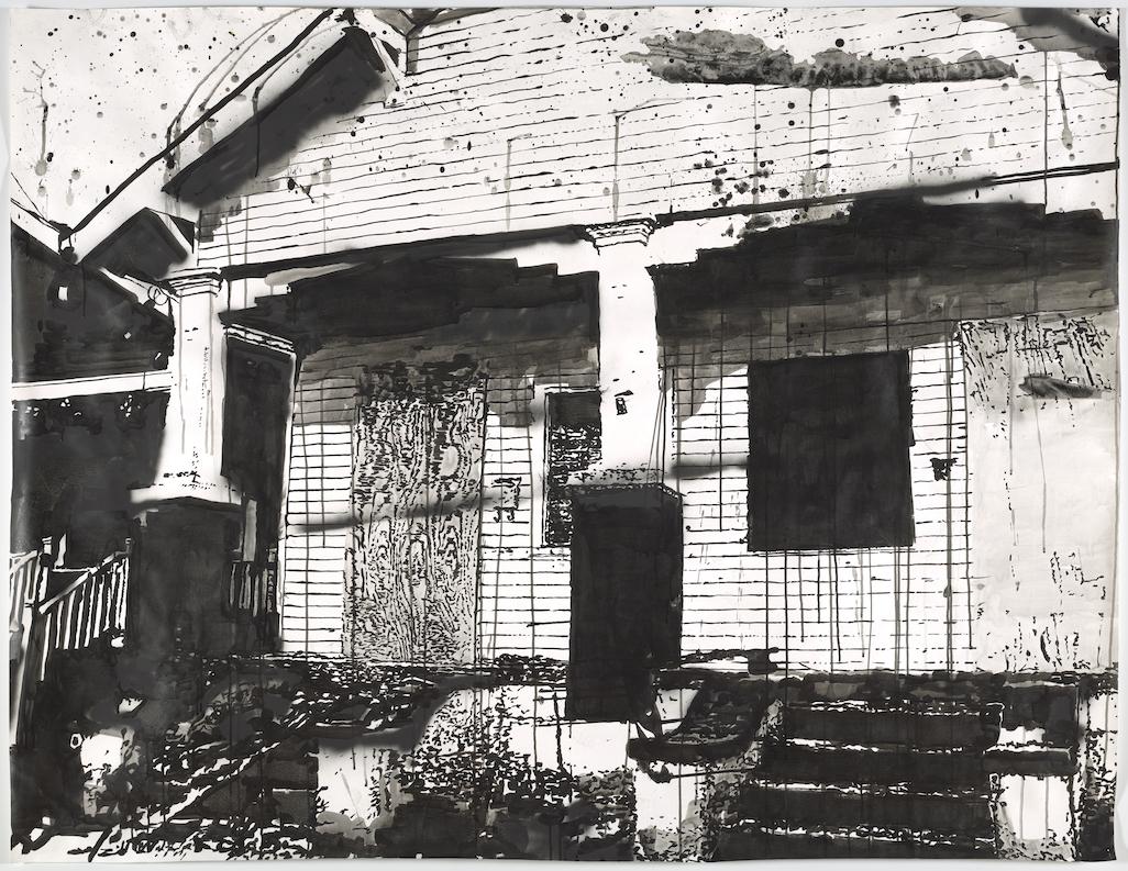 Werk von Monica Bonvicini, Hurricanes and Other Catastrophes zeigt von Hurricane Katrina zerstörtes Haus in New Orleans