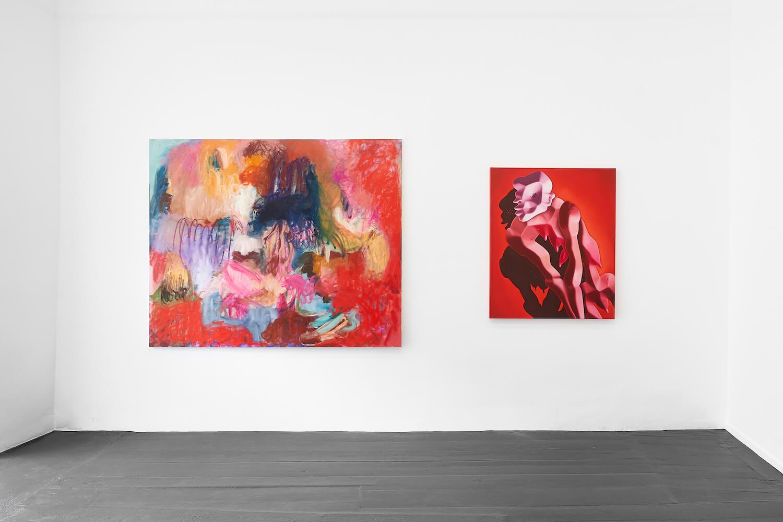 Arbeiten von Anna Steinert und Cathrin Hoffmann in der Galerie Tanja Wagner.