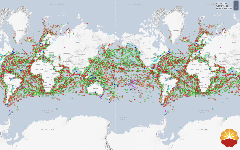 Eine digitale Weltkarte