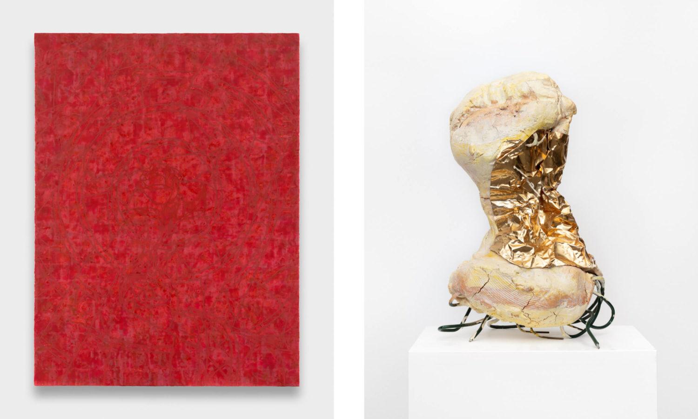 Das Bild zeigt eine Doppelansicht zweier Kunstwerke von Mitchell Anderson und Nico Ihlein.