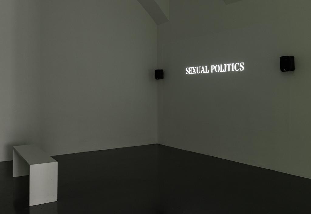 Installationsansicht von Masha Tupitsyns Love Sounds in der Galerie Layr
