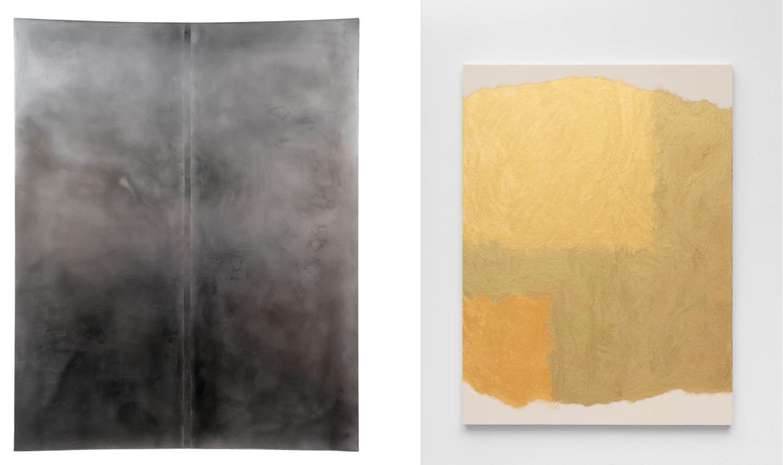 Das Bild zeigt eine Doppelansicht zwei Kunstwerke von Sophie Reinhold und Tony Just.