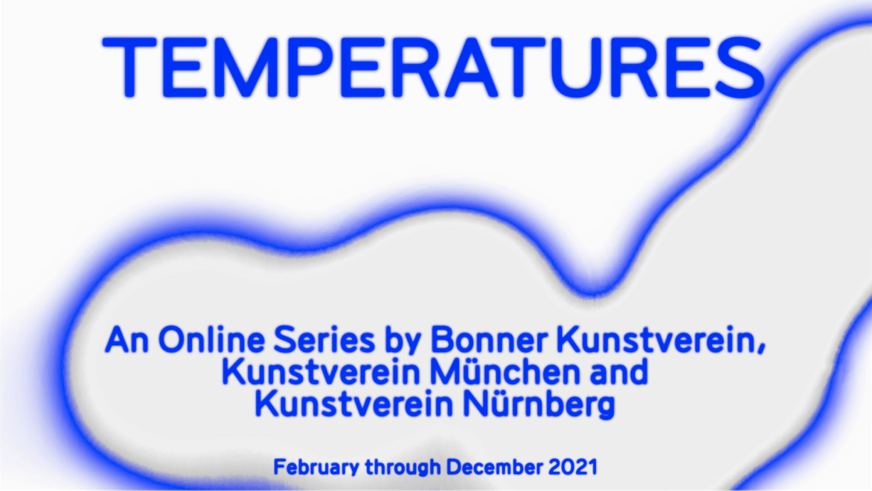 Flyer der Online Series von Bonner Kunstverein, Kunstverein München und Kunstverein Nürnberg