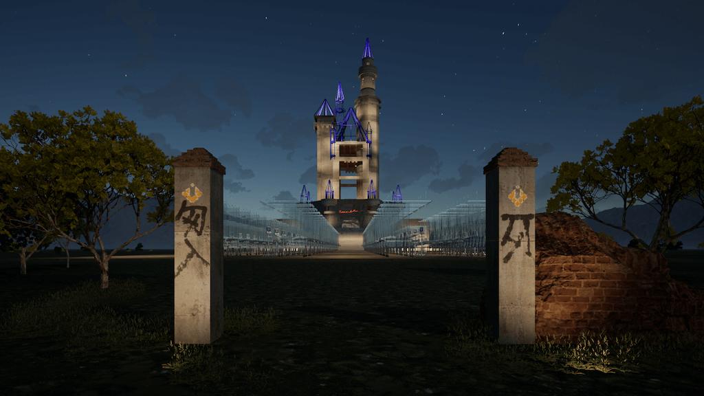 """Zu sehen ist ein Screenshot der virtuellen Gruppenausstellung """"Wonderland"""",in der Epoch Gallery."""