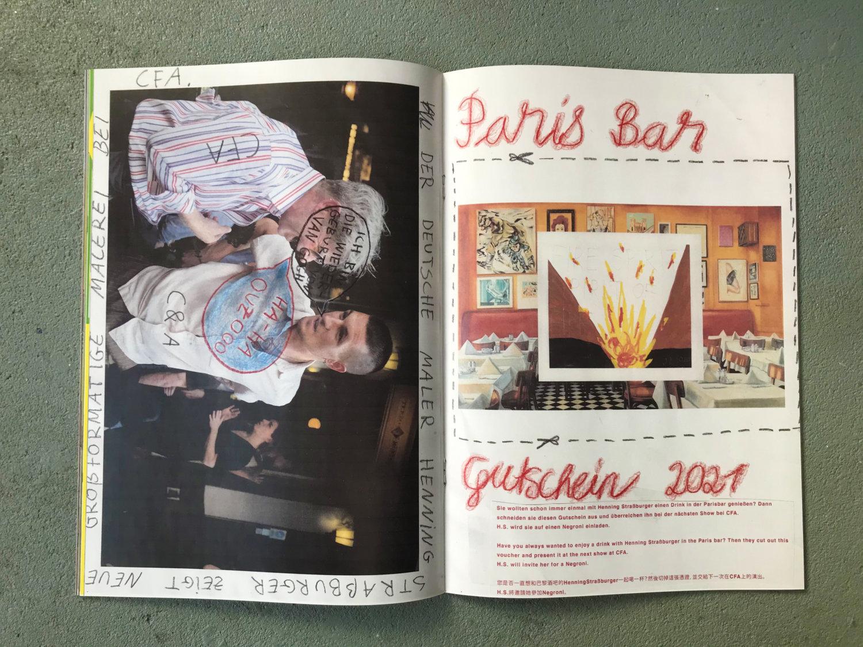 Eine Doppelseite des Magazins Zine