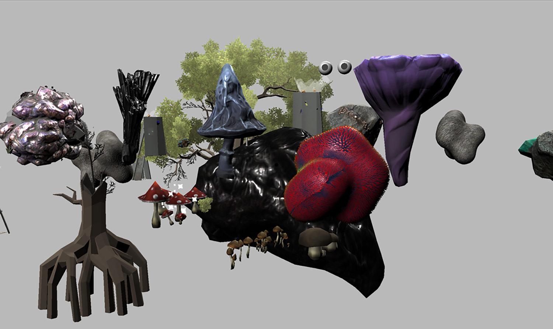 Zu sehen ist ein Screenshot der Arbeit Deep Simulator von aaajiao.