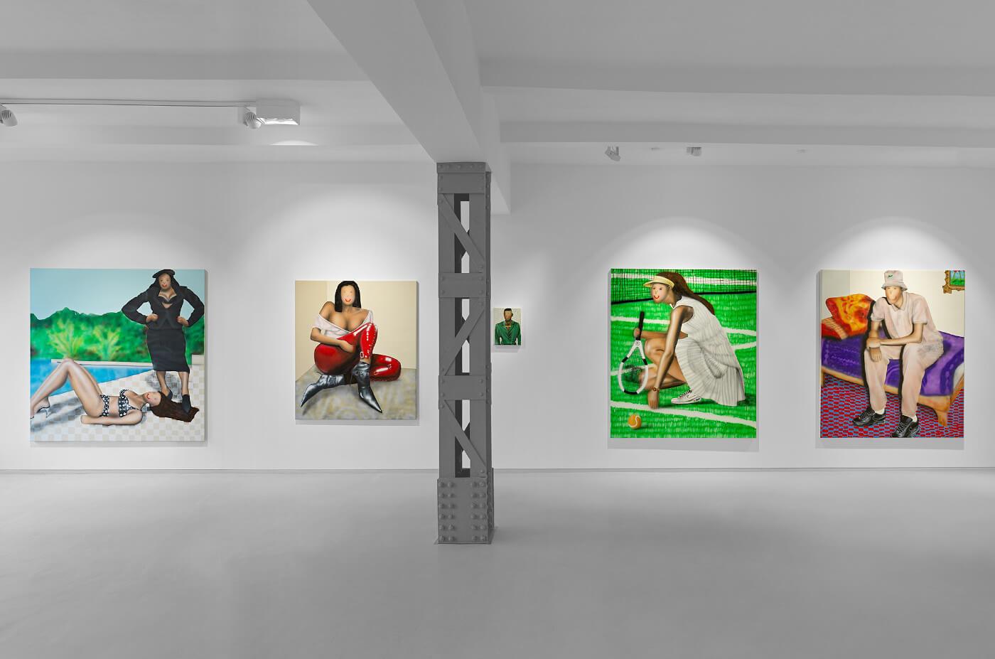 """Ausstellungsansicht der Schau """"EXIT"""" des Künstlers Evgen Čopi Gorišek in der Galerie DUVE Berlin."""
