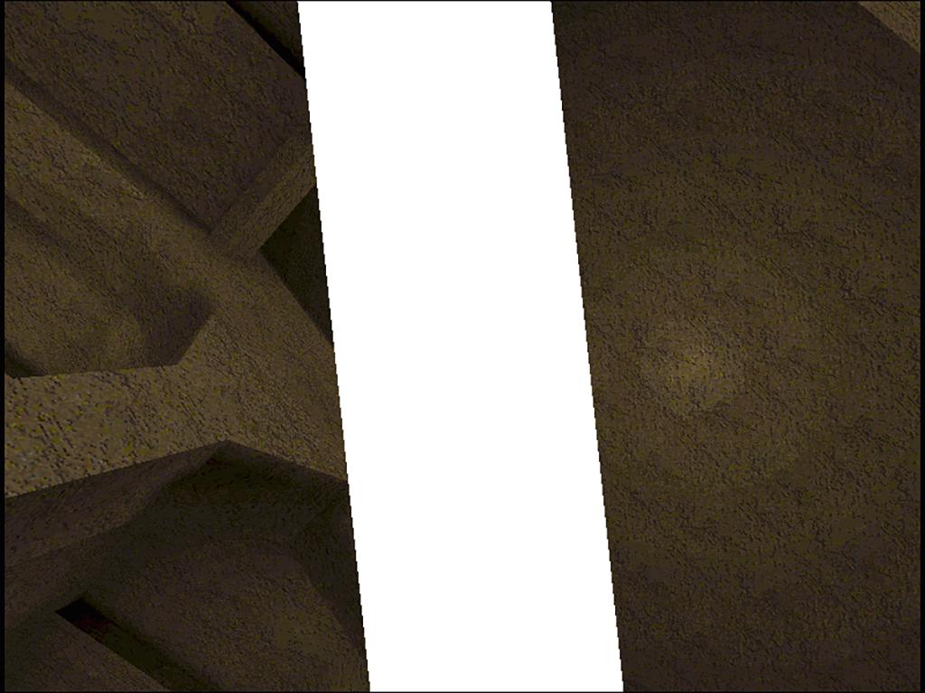 Man sieht ein Bild aus dem Gameplay von jodi.org: Untitled Game aus dem Jahr 1996.