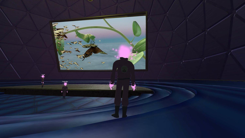 Das Bild zeigt einen Gamestill des Computerspiels H.O.R.I.Z.O.N. des Institute of Queer Ecology.
