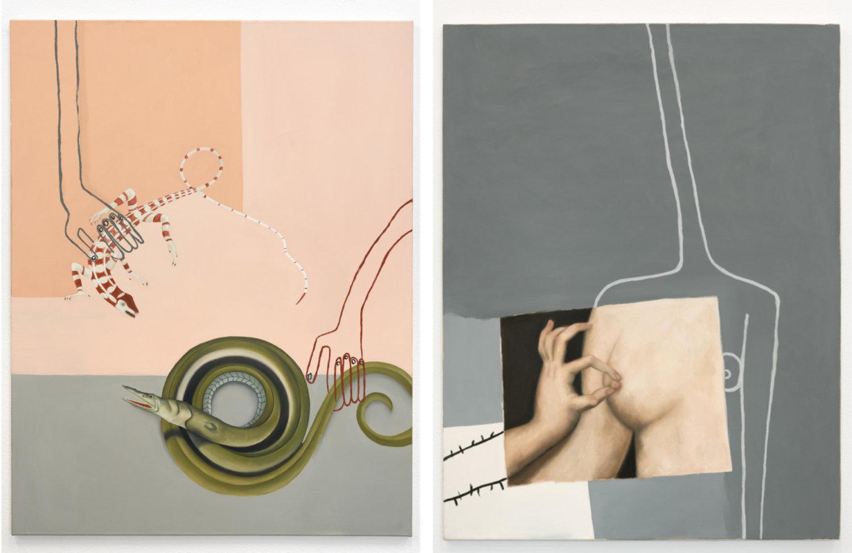 Zwei Bilder mit pastellfarbigen Tönen von Sophie Ullrich