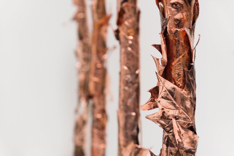 Stäbe aus Kupferblättern