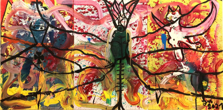Das Bild zeigt ein Kunstwerk des Künstlers Jonathan Meese.