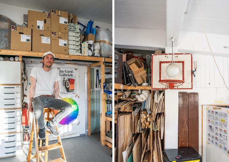 Jay Gard im Atelier. Foto: Adam Naparty