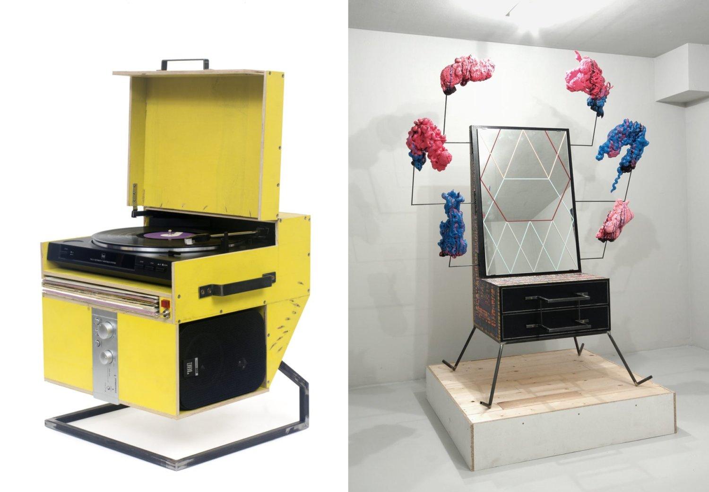 Plattenspieler und Wrong Cabinet von Jay Gard. Foto © Studio Jay Gard