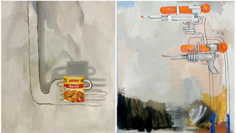 Zwei Gemälde von Sophie Ullrich