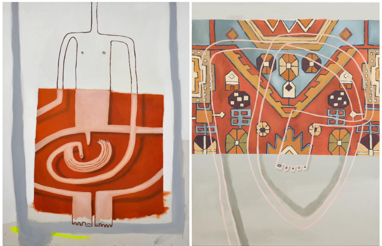 Zwei Gemälde von Sophie Ullrich.