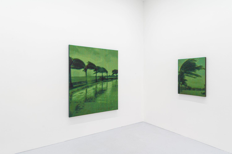Werke von Troika mit Palmen in der Galerie max goelitz.