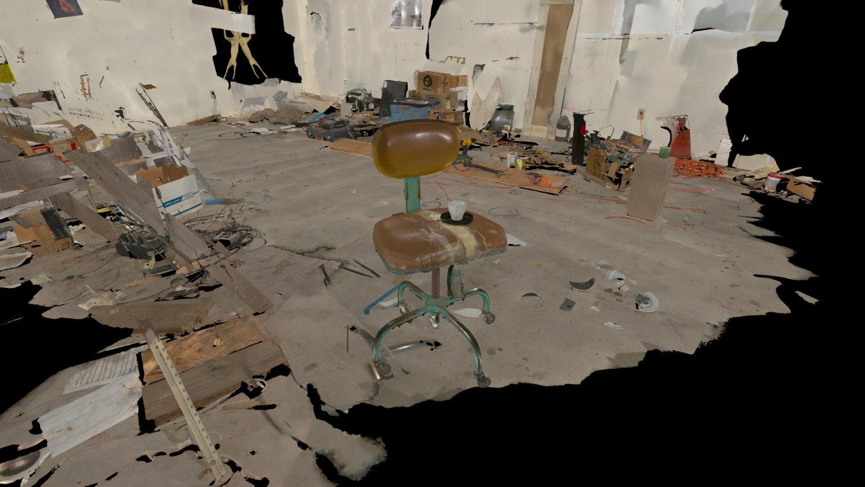 3D Bild eines Ateliers.