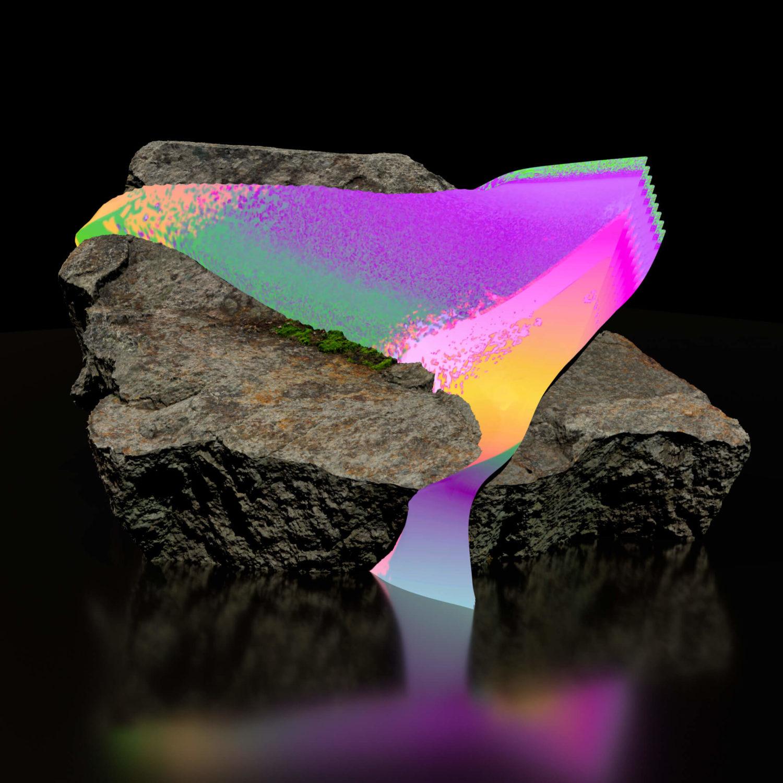 """Das Bild zeigt einen Ausschnitt des digitalen Kunstwerkes """"Geomancer 4"""" des Künstlers Rick Silva."""