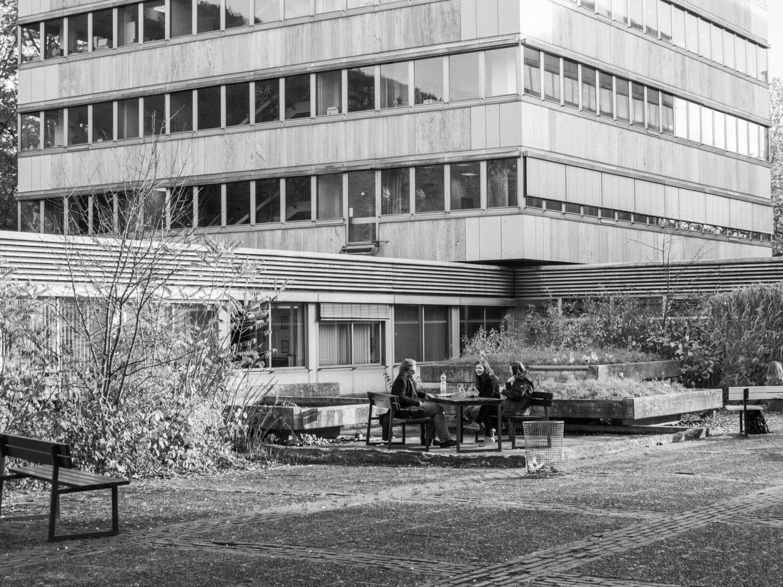 """Arne Schmitt, ohne Titel, von """"Wenn Gesinnung Form wird / Philfak"""", 2011/2020, Fotografie, Universitäten"""