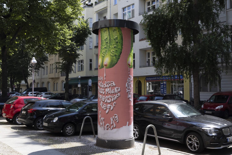 "Slavs and Tatars: ""Pickle Tits"", 2018–21, Installationsansicht, Mommsenstraße"