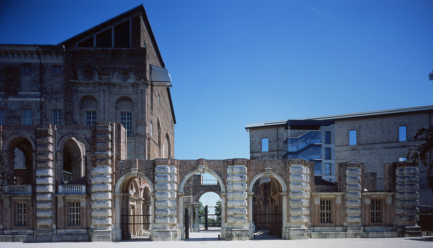 Blick auf den Eingang des Castello di Rivoli